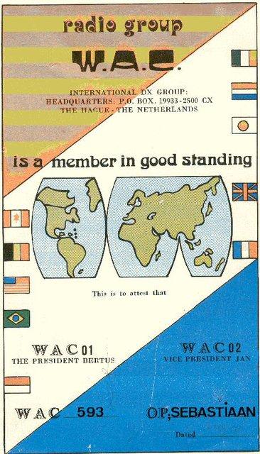 WAC CLUB KAART